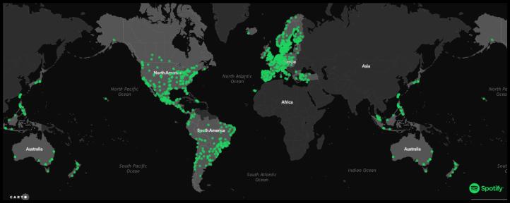 Mapa Mundi Musical Spotify